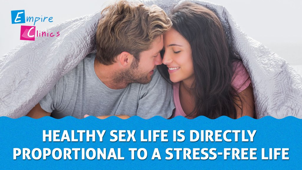 Healthy sex life is directly proportional to a stress free life