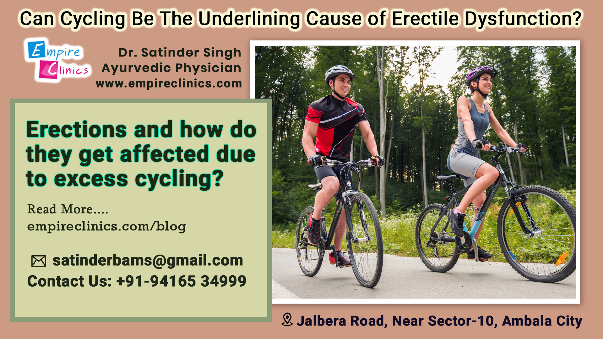 Can Cycling Be The Cause of Erectile Dysfunction Problem?